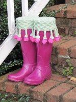 Lattice Rose Bud Fringe Boost Sock, Liner, and Cuff Knitting Pattern Download