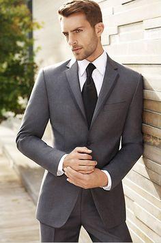 Vera Wang Two-Button Gray Tuxedo