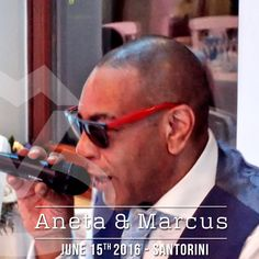 Mcing on Aneta and Marcus's #Wedding in #Santorini #DJinGreece #DJinSantorini #WeddingMcInSantorini #DJMikeVekris #MikeVerkisOnTour2016 #MCinGreece #McForWeddings #GreekMc #DJMCGREECE