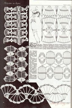 "Photo from album ""Дуплет on Yandex. Crochet Stitches Patterns, Crochet Chart, Thread Crochet, Crochet Motif, Irish Crochet, Stitch Patterns, Knit Crochet, Hairpin Lace Crochet, Broomstick Lace"