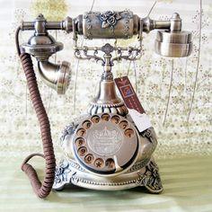 Placa giratória antigo discagem telefone velho telefone girando a decoração da casa do telefone do vintage € 60,41