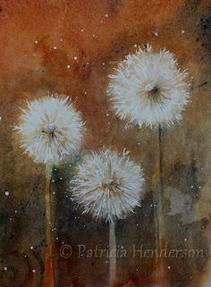 Dandelion Clock Original Watercolor par PatriciaHendersonArt