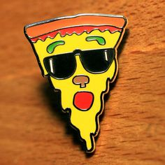 Pizza Bro  Hard Enamel Pin by nateduval on Etsy