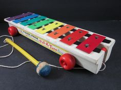Fisher Price #vintage #toy xylophone. Bella plays with the one I had as a child every time she visits Nana's House.