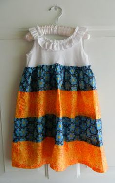 cute tank top ruffle dress remake...might can modify for a cute adult summer top