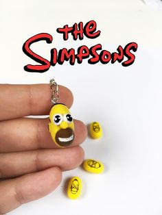 Mr.Sparkle The Simpsons Homer Polymer Clay Charm Keychain/Mobile Plug/ Pendant for Necklace and Bracelet by KawaiiSekaiiWorkshop on Etsy