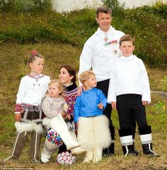 Australian-born Princess Mary and husband Crown Prince Frederick visited Qaqortoq, the capital of Southern Greenland, with their four childr...