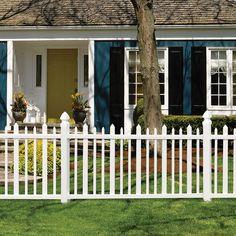 shop gatehouse arborley white stockade picket vinyl fence panel common 48in x