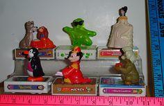Disney 1998 McDonald's Happy Meal Toys Video Favorites Toys Set 0f 6 Loose