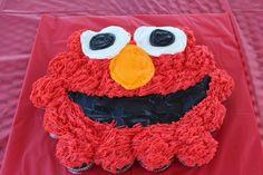 Elmo Pull apart cupcake