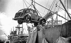 PIRAEUS 1946. The war is finished and at the Port,  first cars make their appear !!!