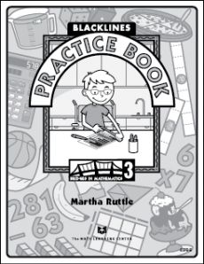 Free printable blackline master printable math practice book for grade 3.