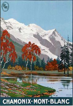 Affiche PLM - Chamonix Mont-Blanc