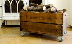 Vintage bushel box on wheels www.velvet-dash.com