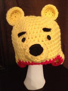 Winnie the Pooh crochet Hat by PattyCakesCrochet on Etsy