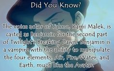 When I read that part of Twilight. I thought Meyer you stole that from Avatar.