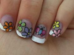 flowers and butterfly nail art tutorial  A TOOTHPICK CAN BE YOUR GREATEST TOOL!