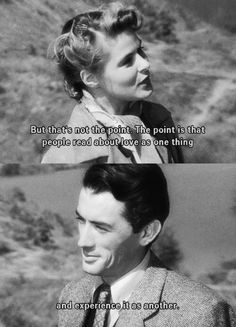 Ingrid Bergman and Gregory Peck in Spellbound (Alfred Hitchcock, Classic Movie Quotes, Classic Movies, Film Quotes, Words Quotes, Sayings, Cinema Quotes, Music Quotes, Book Quotes, Pretty Words