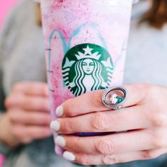 UNICORNS DO EXIST, WE KNEW IT! ✨ Starbucks has a Unicorn Frappuccino for a limited time, and how perfect does our Unicorn charm look with this drink?!