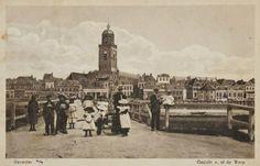 Schipbrug vanaf de worp Deventer
