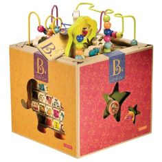 B. Zany Zoo Wooden Activity Cube for Children Ages 1 to 3 * Read more reviews of the product by visiting the link on the image. (This is an affiliate link and I receive a commission for the sales) #BabyToddlerToys