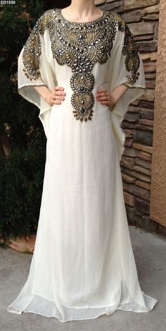 Asian Embroidery Dubai Kaftan Pakistani Designer by Ethnicdresses