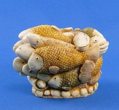 Harmony Kingdom Play School Fish Small Treasure Jest Box Prototype from Fortune Gallery of Vintage Collectibles