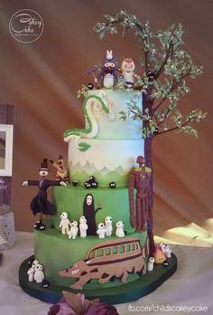 Studio Ghibli Wedding Cake By CakeyCake