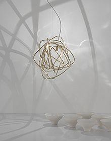 Terzani - Doodle LED-Pendelleuchte - nickel/H Brass Outdoor Lighting, Luxury Lighting, Custom Lighting, Lighting Design, Pendant Lighting, Wall Lighting, Light Pendant, Modern Lighting, Lighting Ideas