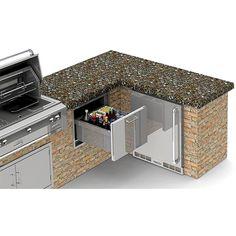 Alfresco 26-Inch Under Counter Ice Drawer & Beverage Center - AXE-ID : BBQ Guys