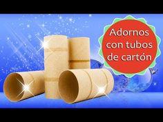 10 Adornos Navideños con tubos de papel higiénico - (Reciclaje) Ecobrisa DIY - YouTube Christmas Tree Cookies, Christmas Diy, Merry Christmas, Christmas Decorations, Origami, Margarita, Arts And Crafts, Creative, Blog