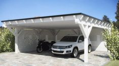 Bildergebnis für carport seitlich geschlossen While age-old inside thought, the pergola continues to be Carport Sheds, Carport Garage, Pergola Carport, Wood Pergola, Deck With Pergola, Pergola Patio, Pergola Plans, White Pergola, Pergola Ideas