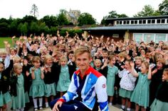 Jack at childhood School. UK Bathrooms Proud to Conintue Sponsoring Olympic Diver Jack Laugher