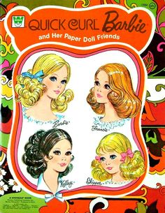 Quick Curl Barbie Paperdolls, my absolute all-time favorite paper dolls. Barbie Paper Dolls, Vintage Paper Dolls, Vintage Barbie Dolls, Barbie Skipper, Quick Curls, Childhood Toys, Childhood Memories, Early Childhood, Barbie World