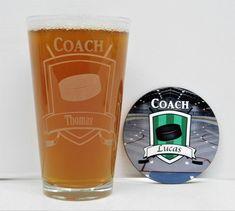 Hockey Coach, Hockey, Hockey Coach Gift Set, Hockey glass, Hockey Gift, Coach gift, Hockey team gift