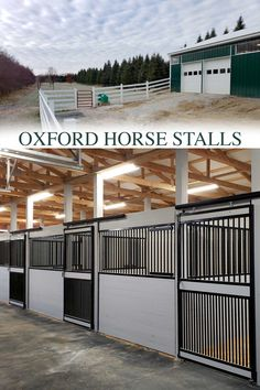Keep an eye on everything in your stall with the Oxford welded horse stall front that comes with a feed door and full grill door kit. Our Oxford welded horse stalls are constructed of hot-dip galvanized steel (14-gauge frame), feature hidden interior welds, and offer the best type of rust protection available! RAMM is the industry's premier hot-dip galvanizer for horse stalls. #rammstalls #oxfordstalls #horsestalls #horsestable #dreambarn #barn #horses #equestrian #farm