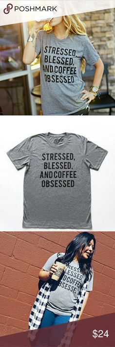 COFFEE OBSESSION WOMEN'S TEE MULTIPLE SIZES NEW COFFEE OBSESSION WOMEN'S TEE MULTIPLE SIZES NEW  Sizes available are listed as choice when you purchase. Gildan Tops Tees - Short Sleeve