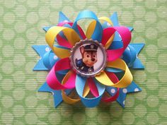 Paw patrol police dog hair bow also for little by bellecaps, $4.75
