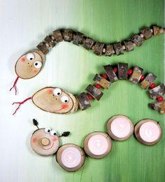 Wurm aus Holz