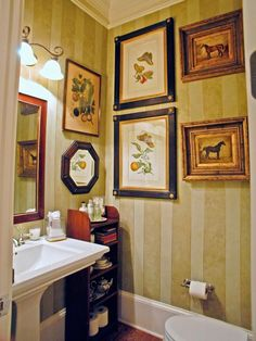 Powder Room Designs:  From DIYnetwork.com