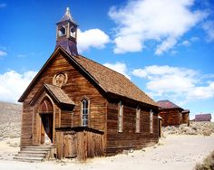 old church at Bodie a ghost town in Northern California