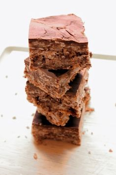 No-bake Chocolate Peanut Butter Bars. after having my first 'no-bake' cookie today, i am convinced they are the latest and greatest thing ever invented. will try these!