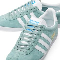 Adidas Gazelle OG trainers return in a legend green finish - Retro to Go Adidas Sneakers, Shoes Sneakers, Adidas Gazelle, New Shoes, Adidas Originals, Trainers, Sportswear, Kicks, It Is Finished