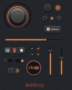 Ui Kit on Behance Mobile Application Design, Mobile Ui Design, Gui Interface, User Interface Design, Dashboard Design, App Ui Design, Ui Buttons, Best Ui Design, Little Bit