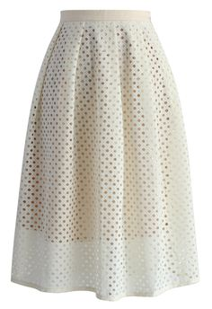Meadow of Joy Midi Skirt in Beige - New Arrivals - Retro, Indie and Unique Fashion