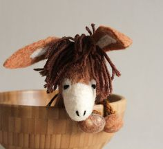 Felt Donkey  Bohdan. Art Toy. Felted Animals by TwoSadDonkeys