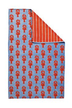 Our Lobster Beach Towel is one of @Camille Styles' favorites for the Beach!