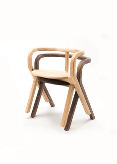 hardwood sumo chair by benwu studio