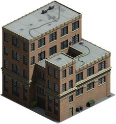 Isometric building by ~varivar