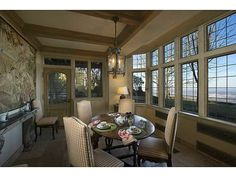The perfect place to enjoy a meal while looking out at the horizon. Lookout Mountain, GA Coldwell Banker Residential Brokerage $2,995,000